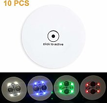 None Brand LED Coasters for Drinks, 10 Pack LED