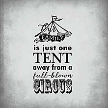 None Brand Our Family Just One Tent Metal Tin Sign