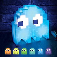 None/Brand Pacman Pixel Night Light LED Eating Pea