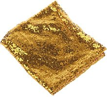 None brand Sparkle Table Cloth Round Bling Sequin