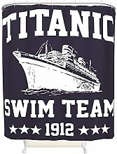 None Brand Titanic Swim Team Photo Art Shower