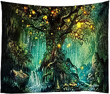 None Brand Wishing Trees 3D Print Tapestry Wall