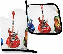 nonebrand Oven Mitt and Potholder, Guitar