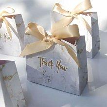 Nonebranded Creative Mini Grey Marble Gift Bag Box