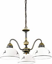 NONNA classic style chandelier in antique brass 3