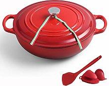 Nonstick Enamel Cookware Crock Pot, Enameled Cast