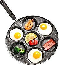 Nonstick Pancake Pan, 7 Holes Egg Frying Pan Egg