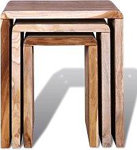 Noor Reclaimed Teak 3 Piece Nest of Tables Union