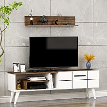 Nora TV Stand - TV Lowboard - TV Table with Wall