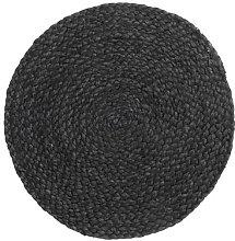 Nordal - Black Jute Placemat - Black