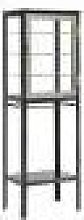 Nordal - Free Space Glass Cabinet - Grey