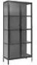 Nordal - Glass Storage Cabinet - Black