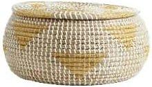 Nordal - Natural Yellow White Rosea Basket
