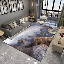 Nordic Abstract Art Rectangular Carpet Modern Home