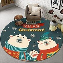 Nordic Circular Printed Carpet Modern Minimalist