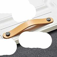 Nordic Cowhide Wardrobe Drawer Door Leather Handle