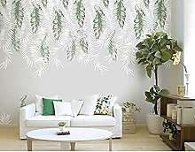 Nordic Fresh Wallpaper 3D Plant Mural DIY