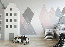Nordic Geometric Style Wallpaper Mural Simple