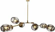 Nordic Glass Ball Sputnik Chandelier, Antique