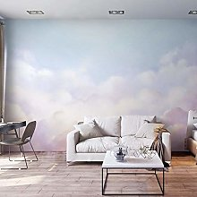 Nordic Ins Wind Gradient Cloud Tv Sofa Background