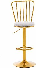 Nordic Light Bar Chair, Adjustable Height Wrought