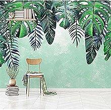 Nordic Minimalist Hand Painted Fresh Tropical