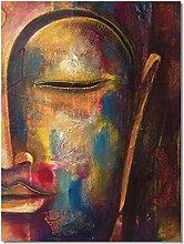 Nordic Modern Half Face Buddha Scandinavian Canvas