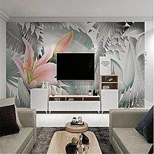 Nordic Modern Wallpaper for Living Room Art Leaf