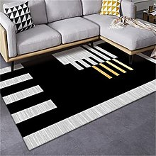 Nordic Printing Dark Green Mosaic Carpet Fashion
