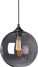 Nordic Retro Smoke Gray Glass Lampshade Hanging