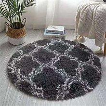 Nordic Round Carpet Modern Home Non-Slip Soft