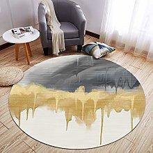 Nordic Simple Circular Geometric Printing Carpet