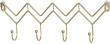 Nordic Simple Gold Wave Shaped Hook, Creative Home