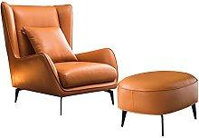 Nordic single sofa chair, Italian designer leather