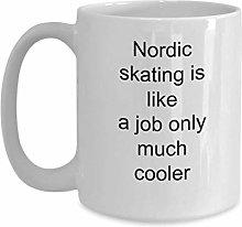 Nordic Skating Cool Coffee Mug Gift Idea Best