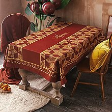 Nordic Solid Color Plaid Series Tablecloth