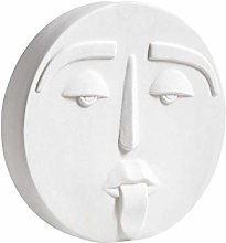 Nordic style creative abstract face ceramic vase