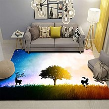 Nordic Style Fashion Area Rugs Marbling Bedroom