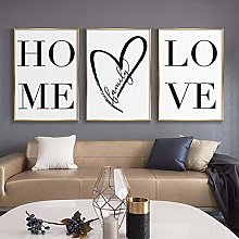 Nordic style Home Love Poster Canvas Painting
