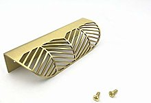 Nordic Style Leaf Shaped Solid Brass Cabinet Knob