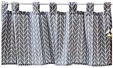 Nordic Style Tier Curtains Cotton Linen Fabric