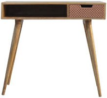 Nordic Style Writing Desk with 1 Perforated Copper