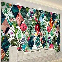 Nordic Tropical Plants Flower Flamingo TV Sofa