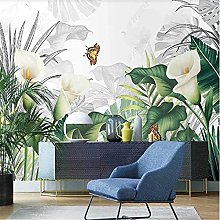 Nordic Wallpaper for Living Room Calla Lily