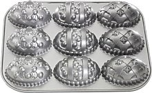 Nordic Ware Decorated Easter Egg Pan, Black