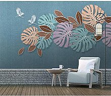 Nordic Waterproof Canvas Wallpaper Tropical Wall