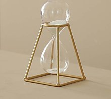 Nordic Wrought Iron Hourglass Timer Scratching,