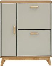 Nordica Two Tier 1 Door Shoe Cabinet - Two Tone