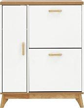 Nordica Two Tier 1 Door Shoe Cabinet - White