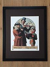 Norman Rockwell Print - Christmas Trio wall art